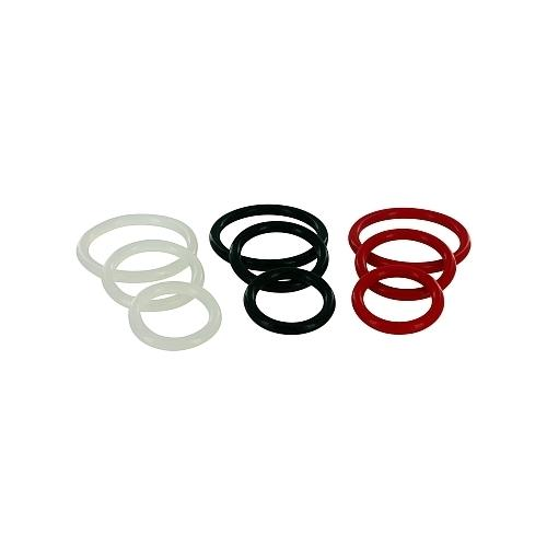 Trinity Silicone Cock Rings Red