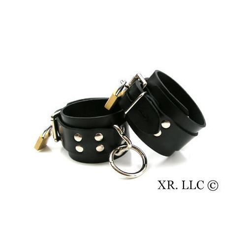 Strict Leather Locking Rubber Ankle Restraints