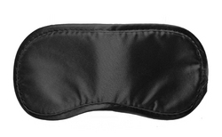 Black Satin Blindfold Mask