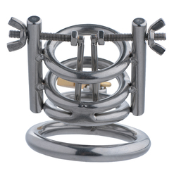 Deluxe Cleaver Urethral Spreader CBT Chastity Cage