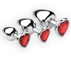 Chrome Hearts 3 Piece Anal Plugs with Gem Accents