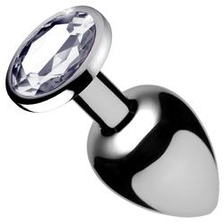 Clear Gem Anal Plug- Small