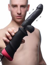 Mega-Pounder Hand-held Thrusting Silicone Dildo