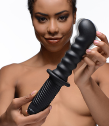 The Skew 10X Silicone Vibrator with Handle
