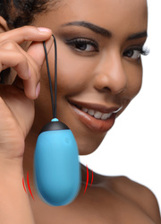 XL Silicone Vibrating Egg - Blue