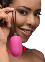 XL Silicone Vibrating Egg - Pink