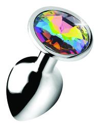 Rainbow Prism Gem Anal Plug - Small