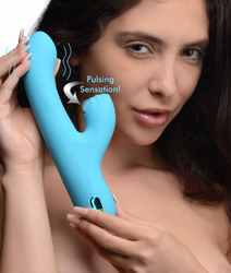 5 Star 13X Silicone Pulsing and Vibrating Rabbit - Teal