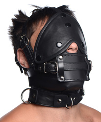 Leather Head Harness with Removeable Gag