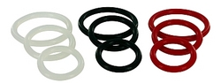 Trinity Silicone Cock Rings Clear
