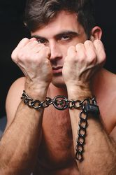 Tom of Finland Locking Chain Cuffs