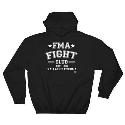 AT0805A Filipino Martial Arts FMA Fight Club Hoodie Black