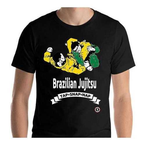 AT1100A  Brazilian Jiu Jitsu 'Tap Snap Nap' T-Shirt