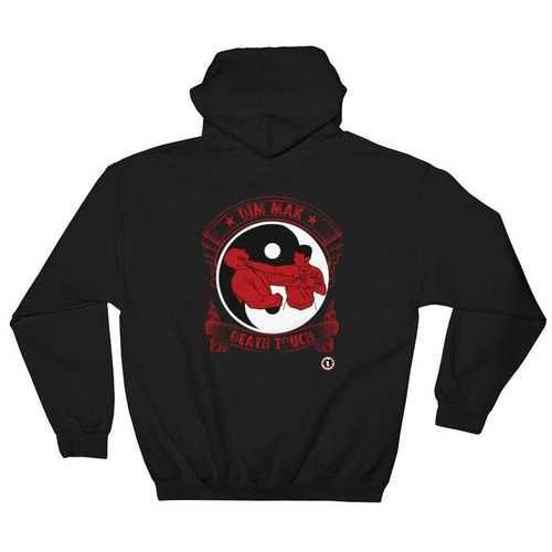 AT1505A Chinese Dim Mak Death Touch Hoodie Black