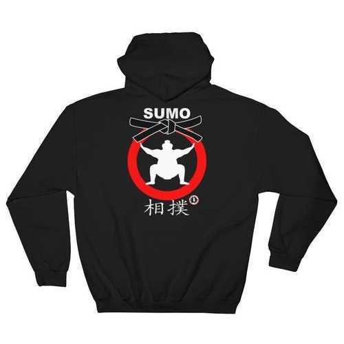 AT2105A Japanese Sumo Wrestling Hoodie Black