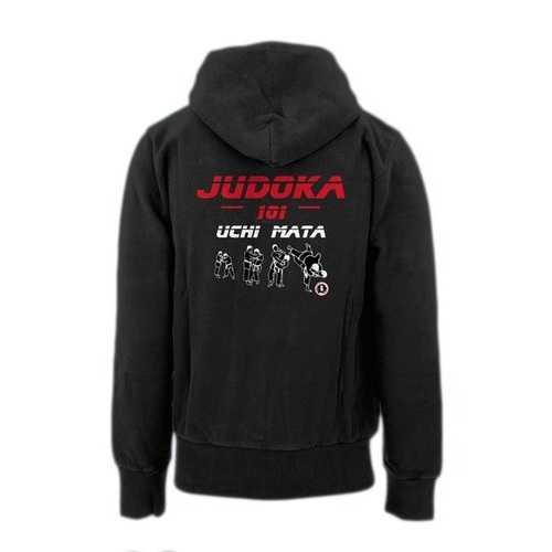 AT2205A Judoka 101 Uchi Mata Hoodie Black