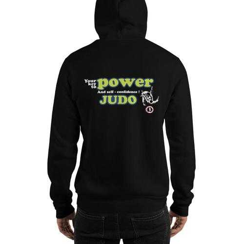 AT2305A  Judo 'Your Key to Power & Confidence' Hoodie Sweatshirt