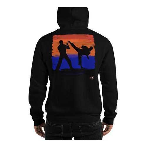 California Kickin Martial Arts Hoodie Sweatshirt Black