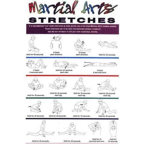 Martial Arts Stretches Plaque 11x17