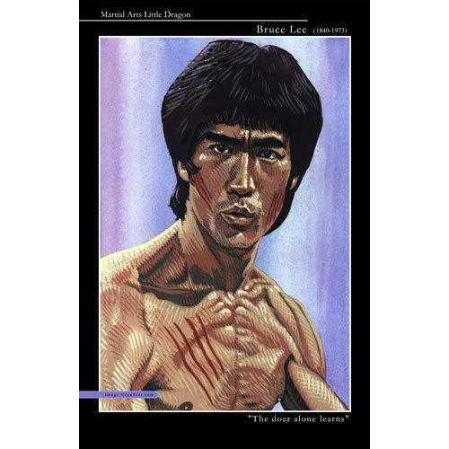 Bruce Lee Portrait Plaque 11x17