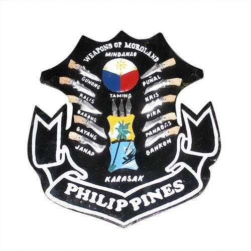 Filipino Plaque: Weapons of Philippines SMALL