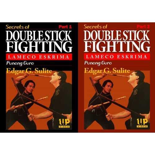 2 DVD Set Lameco Eskrima Secrets Double Stick Fighting Martial Arts Edgar Sulite