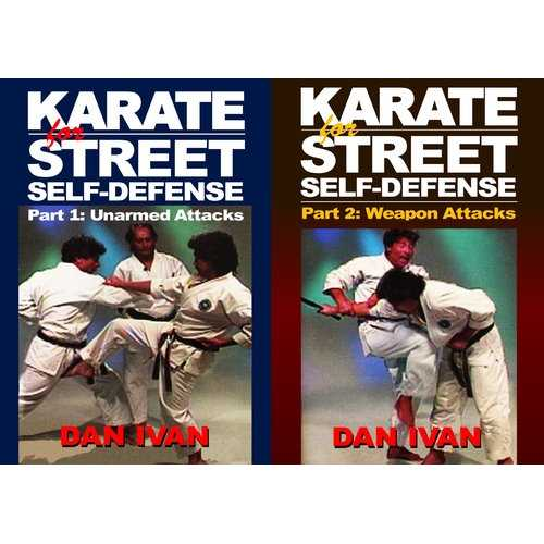 2 DVD Set Karate for Street Survival Self Defense - Unarmed & Armed Attackers