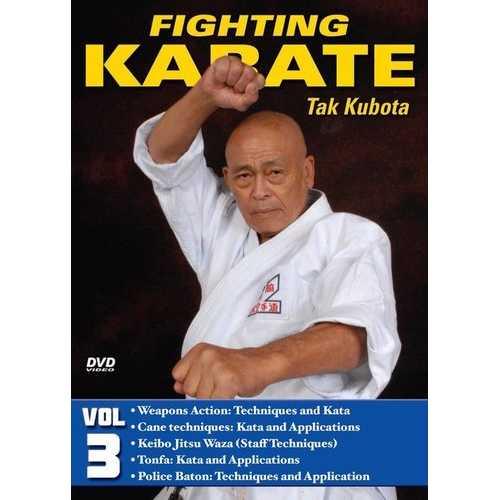 Fighting Karate #3 Weapons Cane Tonfa Keibo Police Baton DVD Takayuki Kubota