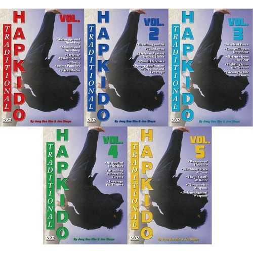 5 DVD Set Traditional Hapkido Groundfighting Ki Weapons DVD GM Jong Bae Rim