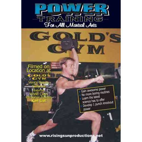 Power Training For Martial Arts DVD Golds Gym