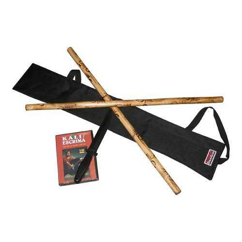 COMPLETE Escrima Kali Arnis Stick & Gear Set $85 Value!