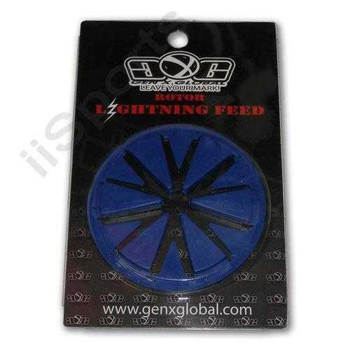 Lightning DYE Rotor 2011 2012 2013 Loader Hopper Speed Feedgate Collar Lid BLUE