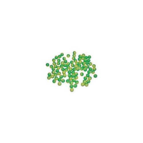 100 ct Bag .43 caliber Dust Powder Balls Paintball Green/Yellow 11mm waterproof