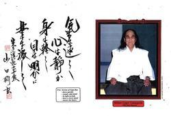 Category: Dropship Collectibles, SKU #GP0004A, Title: Gogen 'the Cat' Yamaguchi 5 Secrets to Goju Ryu Karate Display Plaque 11