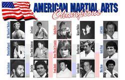 Category: Dropship Collectibles, SKU #GP0052A, Title: PL-52  American Martial Arts Champions Plaque 11x17