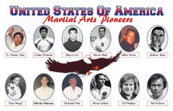 15 USA Martial Arts Pioneers Demura Lee Rhee Kubota Urban Parker Plaque 11x17