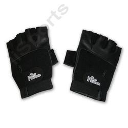 Power Up Weightlifter Fingerless Leather Medium gym weight lifting workout black