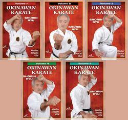 Category: Dropship Books & Videos, SKU #VD8054P, Title: 5 DVD SET Okinawan Shorin Ryu Karate 1-5 Kata Bunkai history Eihachi Ota
