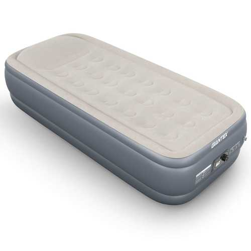 """20"""" Inflatable Airbed Built-in Pump Air Mattress"""