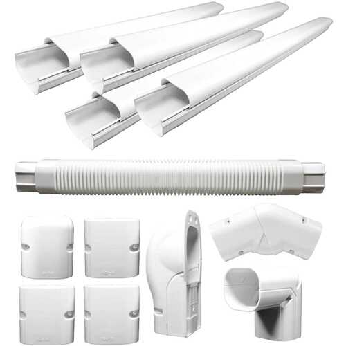 PVC Decorative Line Cover Kit for Ductless