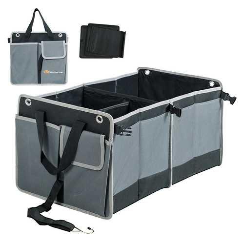 Foldable Multi-compartments Cargo Storage Car Trunk Organizer
