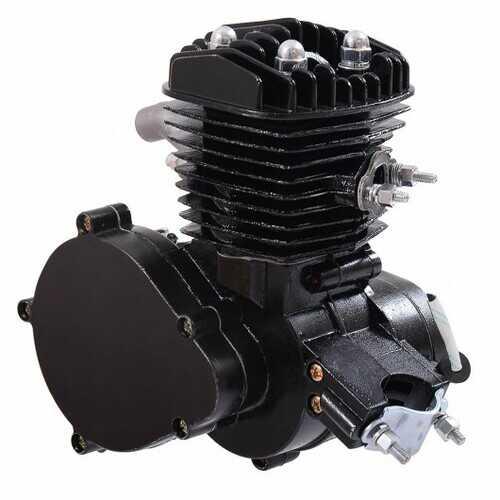 2-Stroke  Upgraded 80 cc Bicycle Gasoline Engine Motor Kit-Black - Color: Black