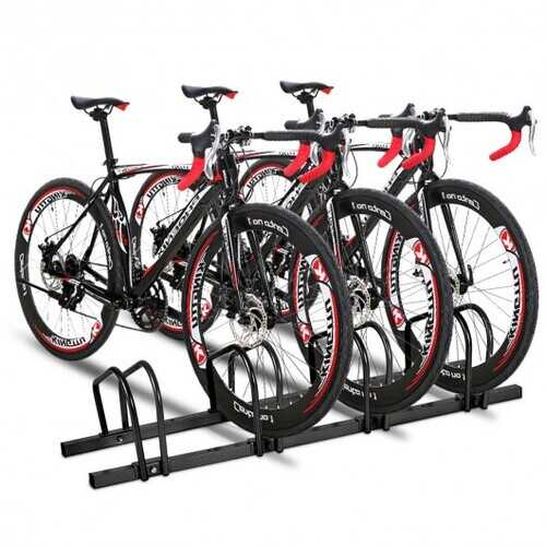 4 Bike Parking Garage Rack Storage Stand-Black