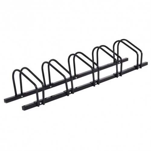 5 Bike Bicycle Stand Parking Garage Storage Organizer-Black