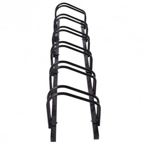 6 Bike Parking Garage Storage Bicycle Stand-Black