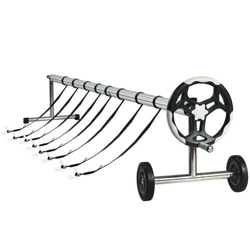21 Ft  Aluminum Pool Cover Reel Set
