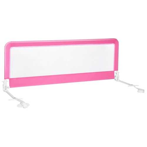 "59"" Breathable Baby Children Toddlers Bed Rail Guard-Pink"
