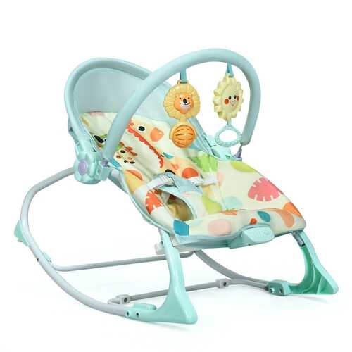 Baby Adjustable Swing Bouncer & Rocker-Green