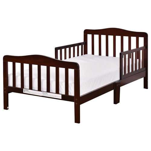 Baby Toddler Wooden Bed with Safety Rails