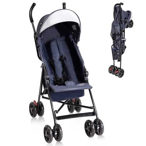 Lightweight Baby Toddler Stroller with Canopy and Storage Basket